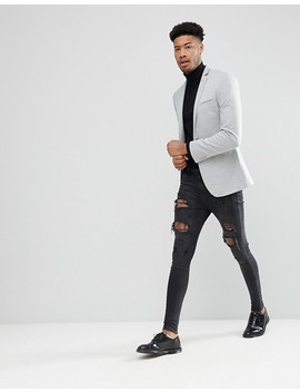 "<A Href=""#"">Asos Design Tall Super Skinny Blazer In Grey Jersey</A> by Asos Design"