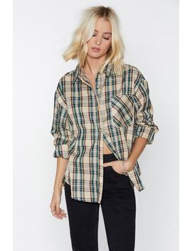 You're In My Plaid Books Relaxed Shirt by Nasty Gal