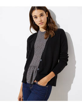 Signature V Neck Cardigan by Loft