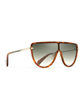D Frame Acetate And Gold Tone Sunglasses by Rag & Bone