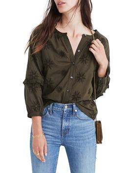 Embroidered Bubble Sleeve Shirt by Madewell