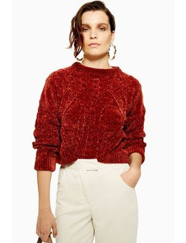 Chenille Cable Knit Jumper by Topshop