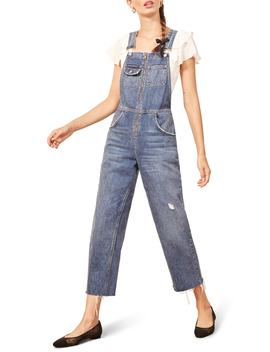 Benji Zip Front Nonstretch Denim Overalls by Reformation