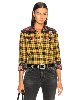 Exaggerated Collar Cowboy Shirt by R13