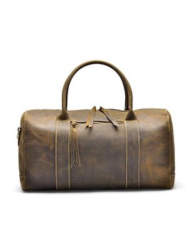 Hølssen Genuine Leather Overnight Weekender Travel Sport Duffel Bag by Hølssen