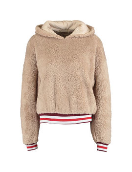 Brown Teddy Hoodie by Urban Nation
