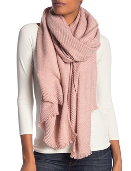 Marled Boucle Pleated Scarf by Modena