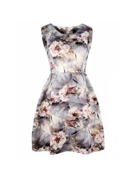 "<P>Floral Print Sleeveless Mini A Line Dress</P><I Class=""Icon Down Js Tap Up Down""></I> by Dress Lily"
