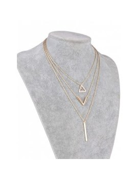 "<P>Stylish Multi Layered Geometric Pendant Necklace</P><I Class=""Icon Down Js Tap Up Down""></I> by Dress Lily"
