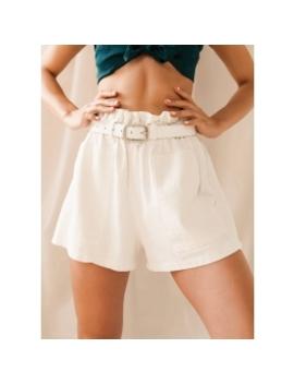 Venus Paper Bag Shorts   White  by Peppermayo