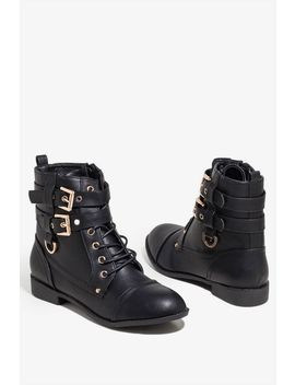 Say My Name Combat Boot by A'gaci