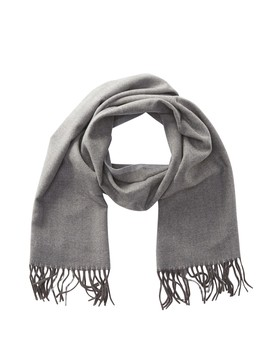 Herringbone Fringe Scarf by Stewart Of Scotland