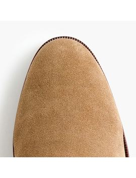 Sherpa Lined Chelsea Boots In Suede by J.Crew