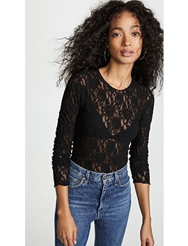 Lace Long Sleeve Bodysuit by Hanky Panky