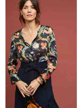 Erica Silk Wrap Top by Vilagallo