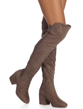 Step With Faux Suede Boots by Windsor