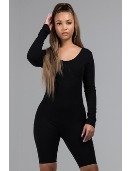 Dressed To Impress Long Sleeve Romper by Akira