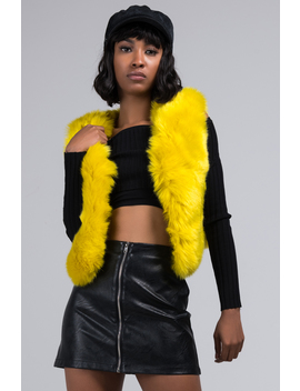 Here To Party Faux Fur Vest by Akira