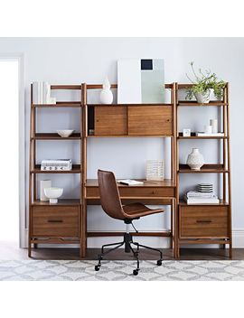 Mid Century Wall Desk + Shelf Set   Narrow by West Elm