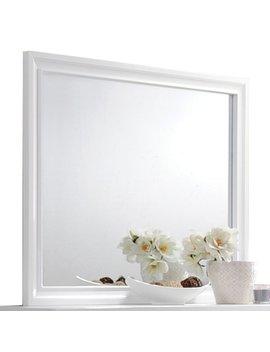 Rosdorf Park Rectangular White Wood Frame Dresser Mirror by Rosdorf Park