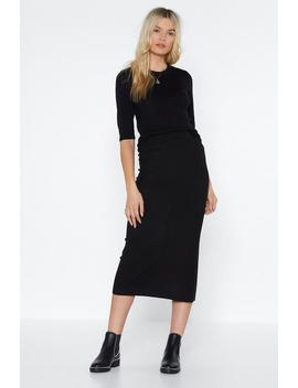 Don't Speak Ribbed Skirt by Nasty Gal