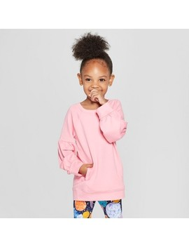 Toddler Girls' Long Sleeve Tunic   Cat & Jack™ Pink by Cat & Jack™
