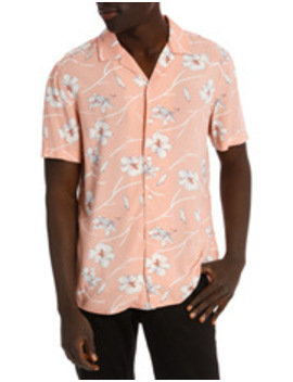 Pink Sands Printed Short Sleeve Relaxed Shirt by Blaq
