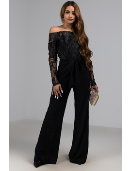 Dress Me Up Off Shoulder Lace Jumpsuit by Akira