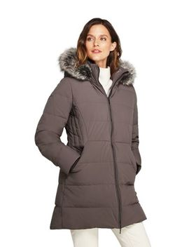 Women's Petite Stretch Long Down Coat by Lands' End