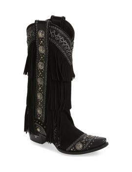 Wind Walker Fringe Knee High Western Boot by Lane Boots