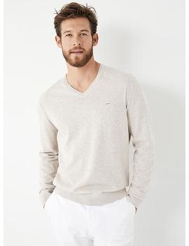 Pastel Minimalist V Neck Sweater by Michael Kors