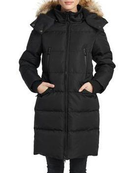 Addie Faux Fur Trimmed Long Jacket by Noize