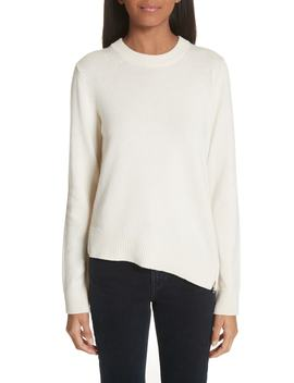 Asymmetrical Zip Detail Wool, Silk & Cashmere Sweater by Proenza Schouler