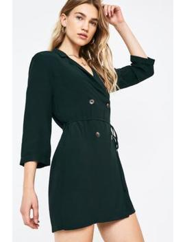 Uo Revere Collar Shirt Dress by Urban Outfitters
