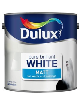 Dulux Matt Emulsion Paint                         Pure Brilliant White 2.5 L Dulux Matt Emulsion Paint                         Pure Brilliant White 2.5 L by Wilko