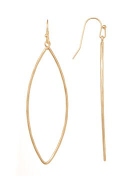 Hammered Teardrop Hoop Earrings by Melrose And Market