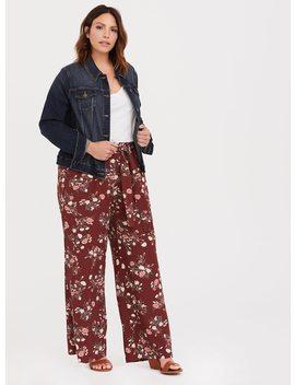 Wide Leg Pant   Crepe Floral by Torrid