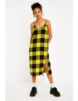 Cheap Monday Keep Yellow Tartan Check Dress by Cheap Monday