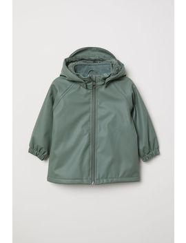 Fleece Lined Rain Jacket by H&M
