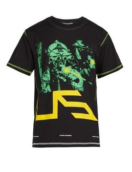 Night Vision And Logo Print Cotton T Shirt by United Standard
