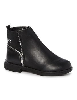 Black & Silver Moto Boot   Girls by Zulily