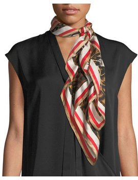 Silk Leopard Print Square Scarf by Vince Camuto