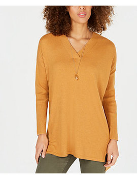 Petites High Low Over Sized Tunic Sweater, Created For Macy's by Style & Co