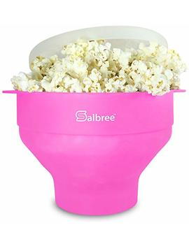 The Original Salbree Microwave Popcorn Popper, Silicone Popcorn Maker, Collapsible Bowl Bpa Free   14 Colors Available (Pink) by Salbree