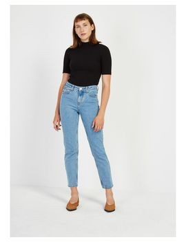 Women's Blue The Stevie High Waisted Tapered Jean by Frank And Oak
