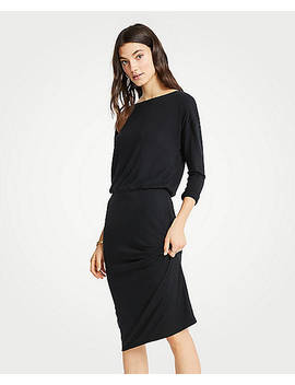 Petite Shirred Sheath Dress by Ann Taylor