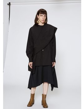 Long Sleeve Shoulder Drape Top by Y's By Yohji Yamamoto