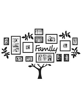 "Wall Verbs™ 19 Piece ""Family"" Tree Set In Black by Bed Bath And Beyond"