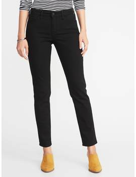 Mid Rise Straight Jeans For Women by Old Navy