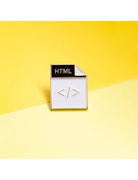 Html Pin ... Developers & Designers! Accessories   Enamel Pin by Etsy